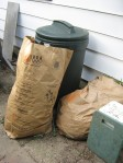 Bags of weeds to be composted